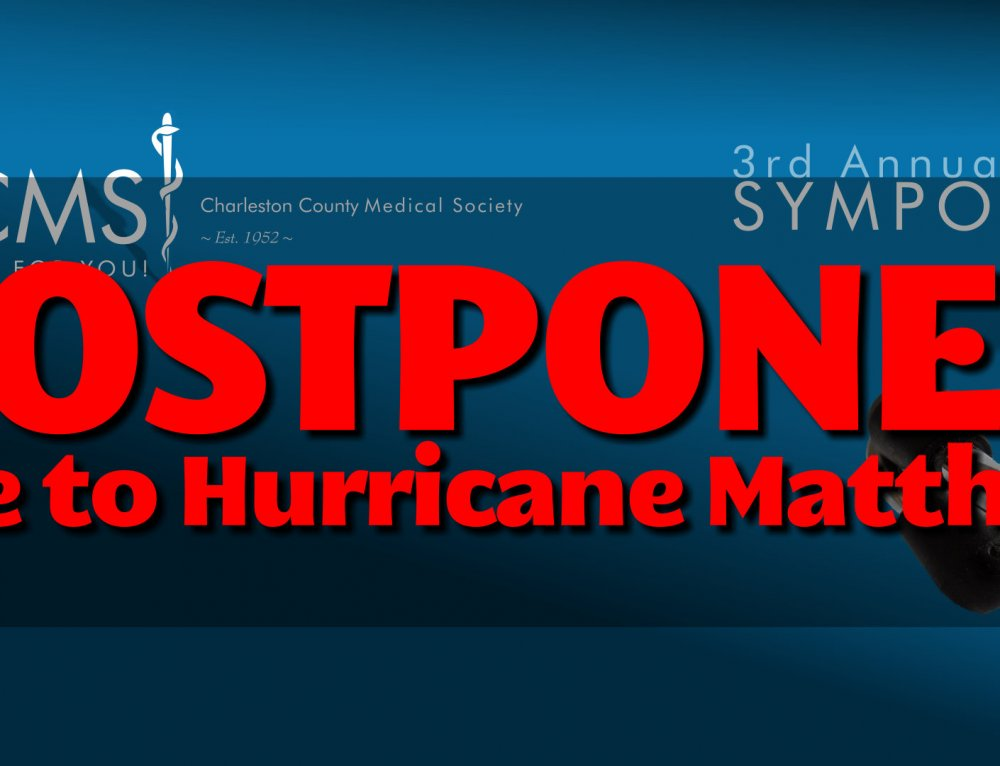 Symposium postponed due to hurricane Matthew