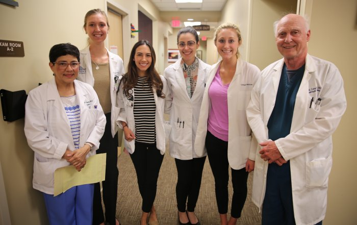 Drs. Pearon Lang, Hampton and Rahbar volunteered their time at the Skin Cancer Screening Organized by Dr. Todd Schlesinger, CCMS Member and SCMA President
